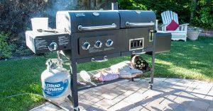 Barbecue in a backyard