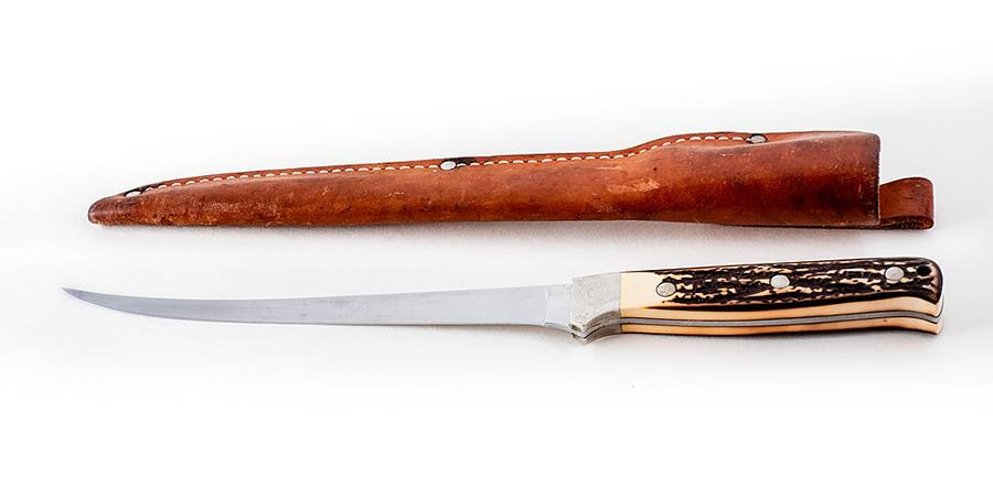 a fillet knife and holster