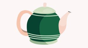 A teapot could go in the tea and coffee zone