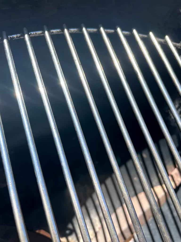 A clean grill that has just been cleaned